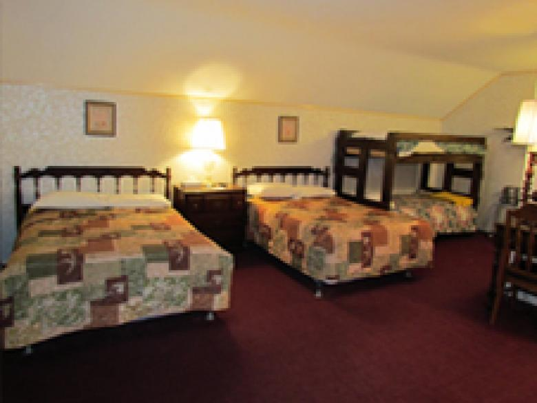 Two Double Beds with Bunk Bed